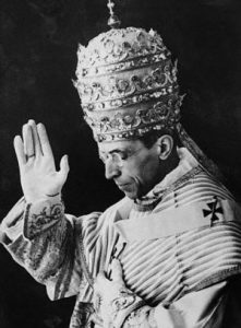 His Holiness Pope Pius XII --- Image by © Hulton-Deutsch Collection/CORBIS